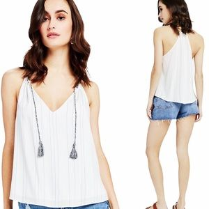 NWT GENTLE FAWN White T Back Pinstripe Tank Top